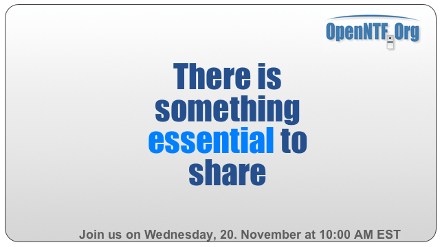 Join us ... there is something essentials to share